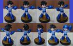 Helmetless Mega Man custom amiibo