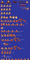 King Dedede Sprite sheet (re-upload) by Gregarlink10
