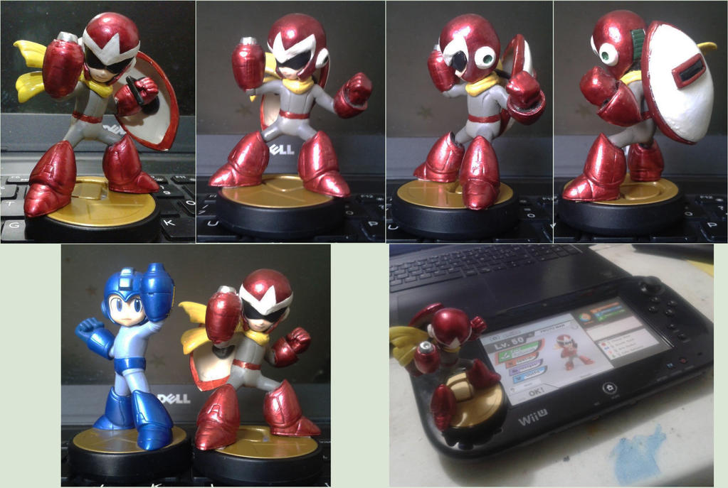 Custom Proto Man amiibo (functional) by Gregarlink10