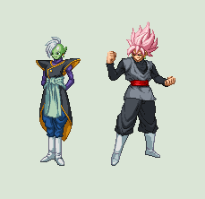 Zamasu and Black (Extreme Butoden style) by Gregarlink10