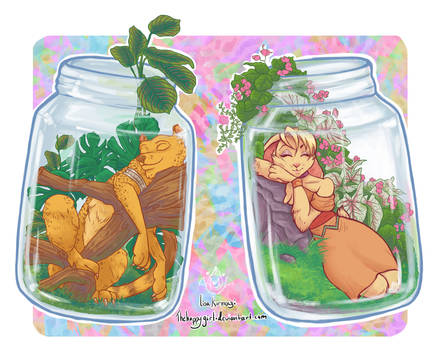 Spyro Jars, Hunter and Bianca