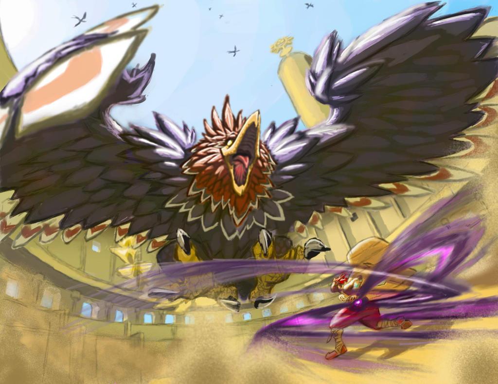 Ganondorf vs. the Helmaroc V2 by Iroas