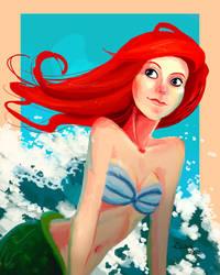Ariel, the little mermaid by ekara