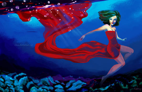 Red Dress by ekara