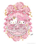 My Melody / Hello Kitty - Rococo Medallion