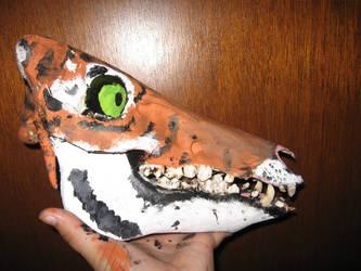 Boar Skull Canvas- Tiger by FoxMaxwell