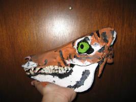 Boar Skull Canvas- Tiger 2