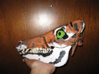 Boar Skull Canvas- Tiger 2 by FoxMaxwell