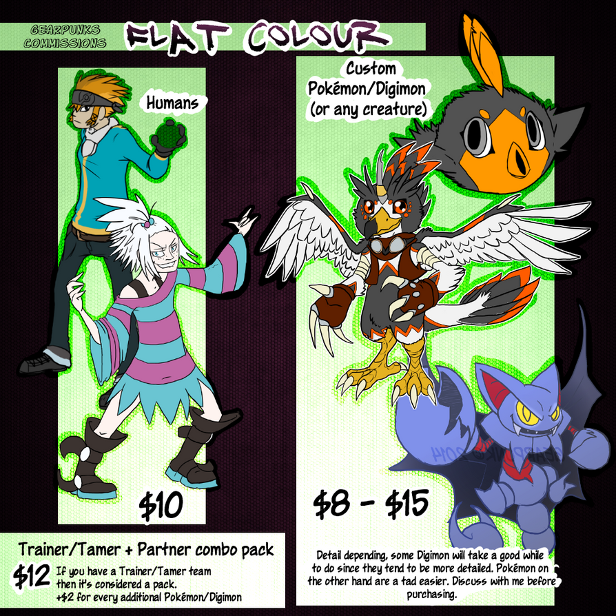 Flat Colour Prices by Gearpunk