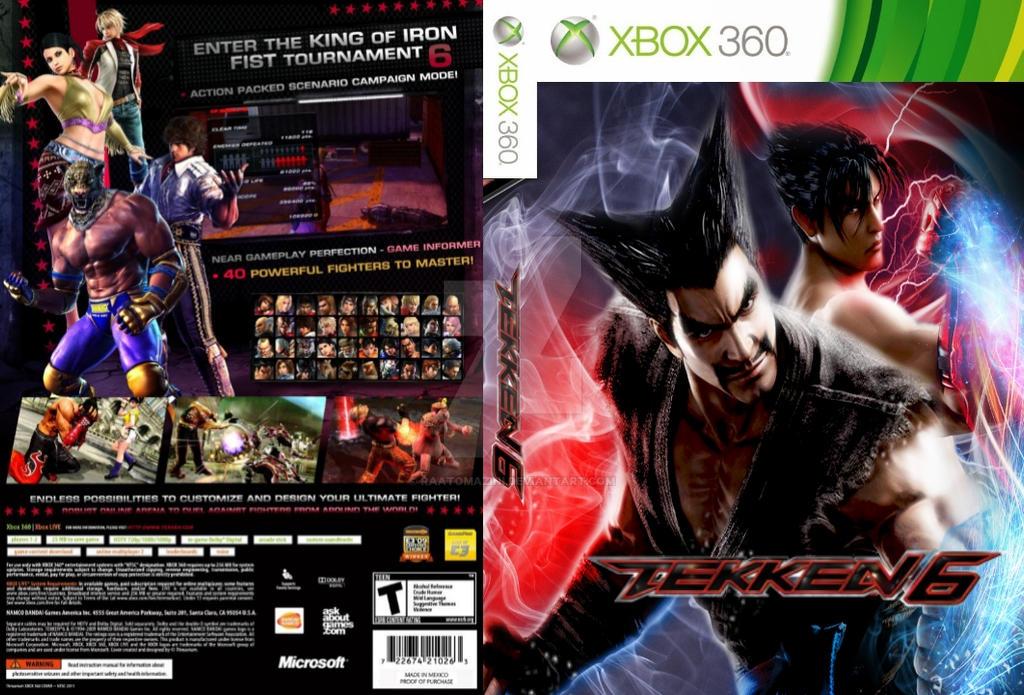 Game Cover Xbox 360 Tekken 6 By Raatomazini On Deviantart