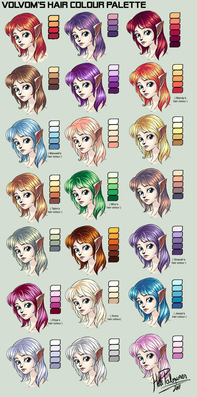My Hair Colour Palette By Volvom On Deviantart