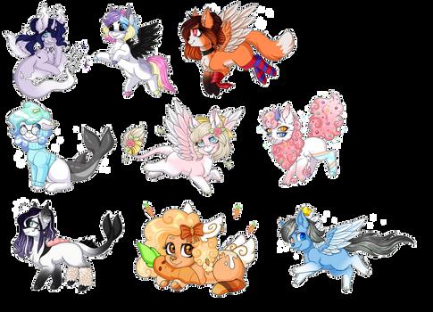 Chibi pony commissions - Batch 4