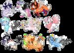 Chibi pony commissions - Batch 4 by Volvom