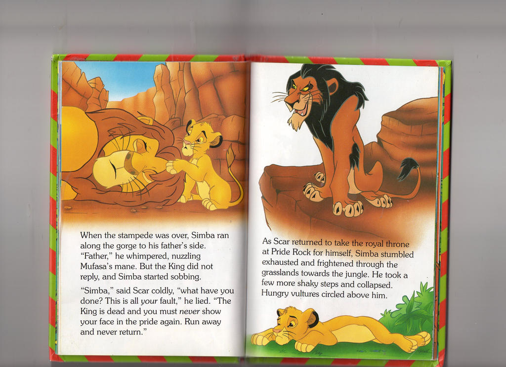 The Lion King Ladybird Book Scan  Simba Dead by echosdusk on