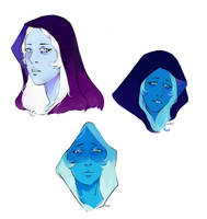 Blue Diamond Doodles by TheEditCat