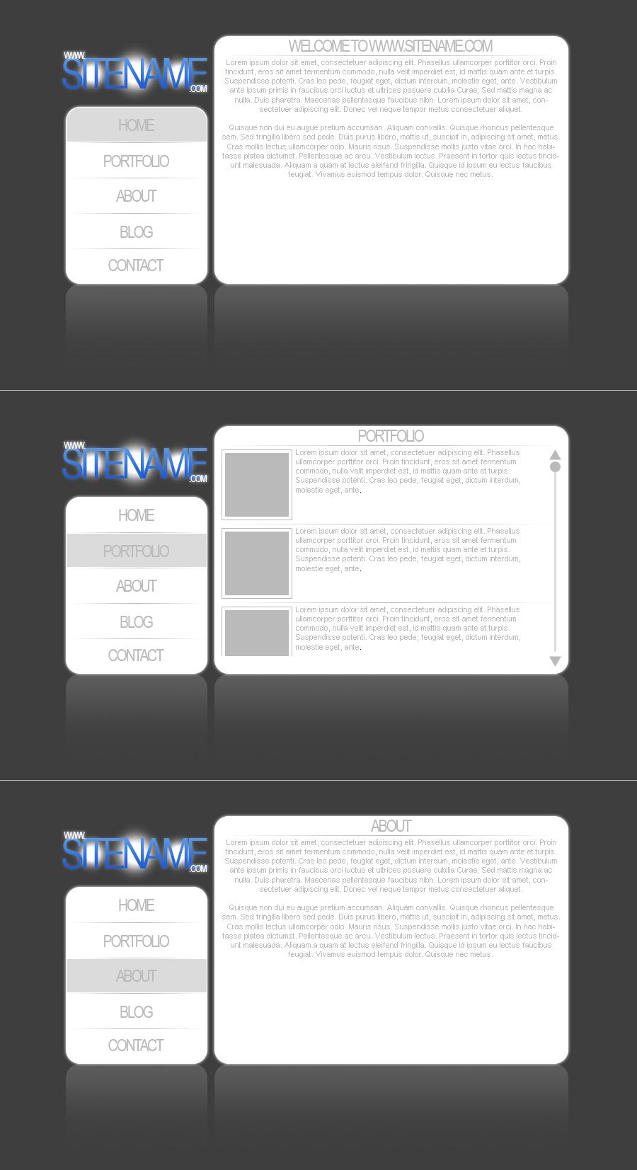 Simple White Layout by DarkVortexX