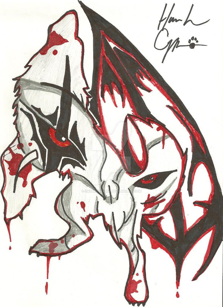 morbid wolf tattoo by okamikurama on deviantart. Black Bedroom Furniture Sets. Home Design Ideas