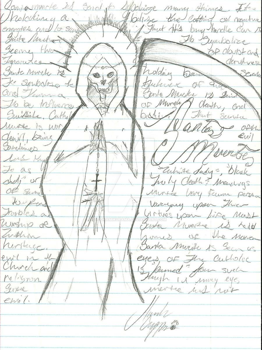 santa muerte holy death by okamikurama on deviantart