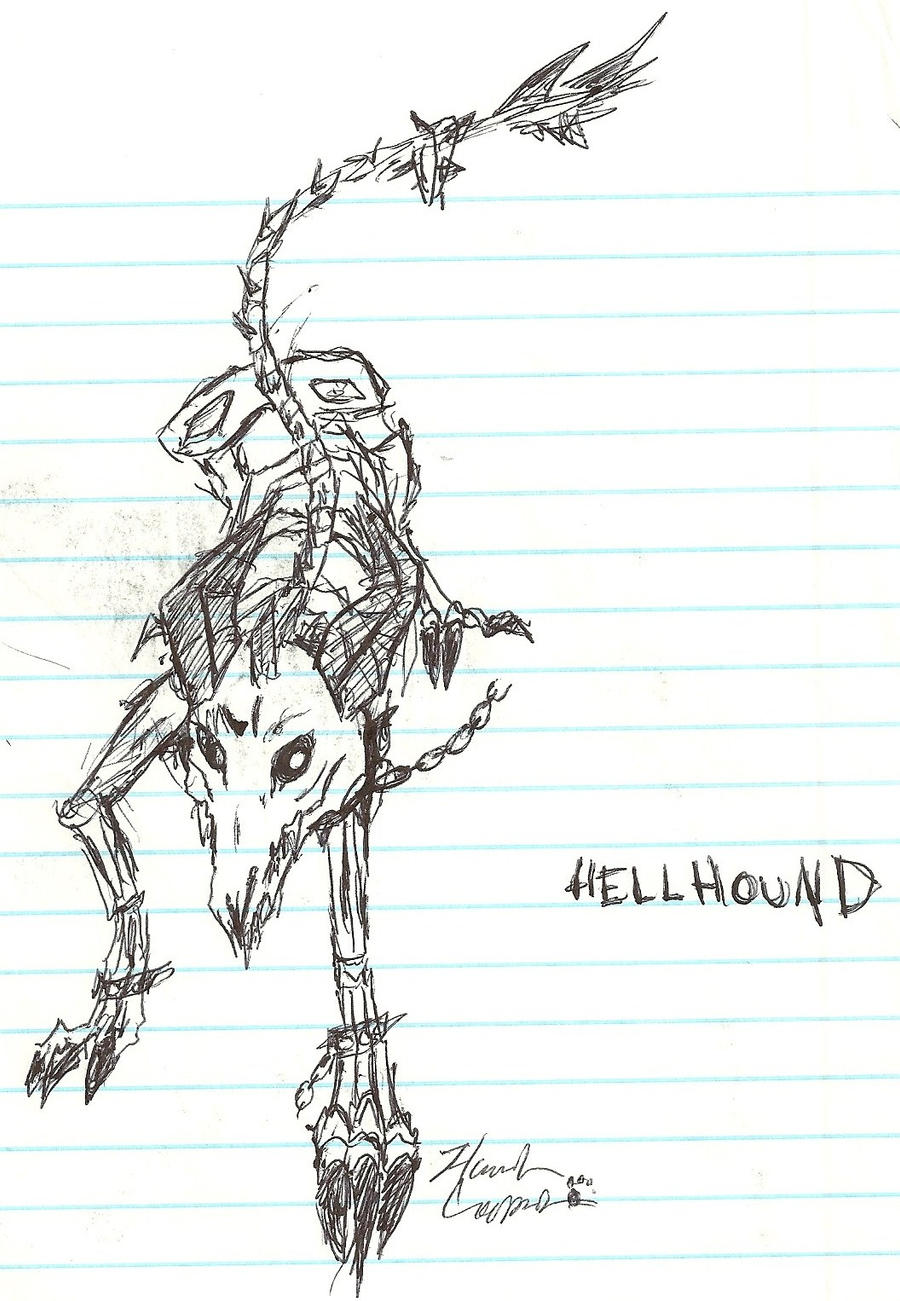 hellhound 2 by okamikurama on deviantart. Black Bedroom Furniture Sets. Home Design Ideas