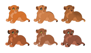 Prideland cubs adoptables [CLOSED] by VampyKiss