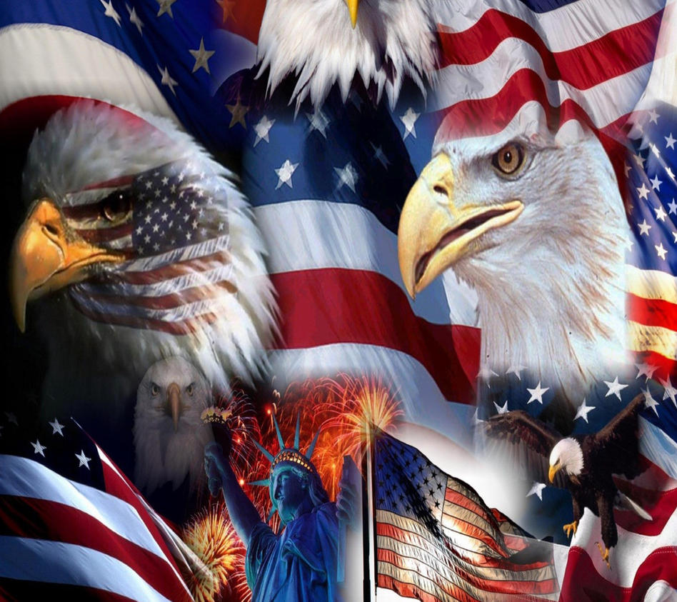 USA Flag Eagle Wallpaper 10731286 By Cdooku44