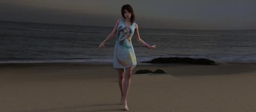 Blaire Walking The Beach