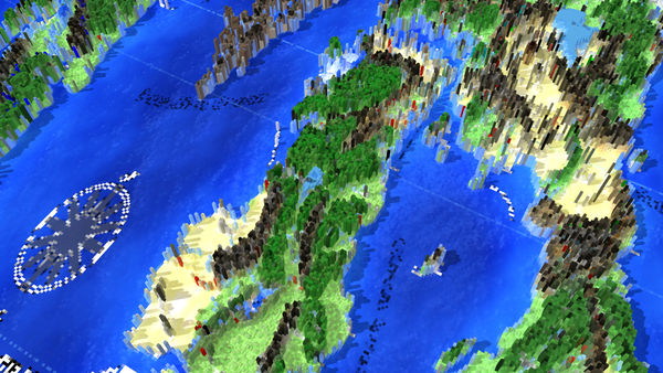 ... For Use In Newteku0027s Lightwave3D, And From That I Played Around With The  Setup To Make A Pixelated Map Of The Pathfinder World Of Golarion: