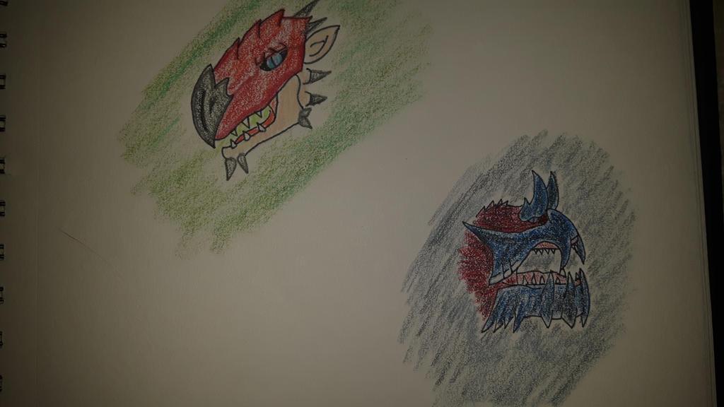 rathalos and glavenus by Dinonerdart