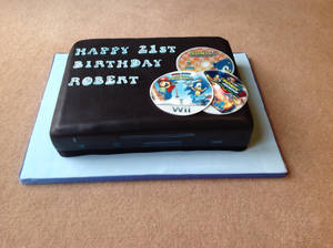 My Wii U Cake (front)
