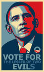 VOTE FOR the lesser of two EVILs