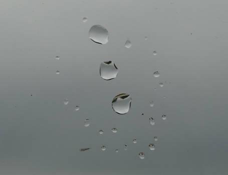 Beautiful rain drop pattern on window