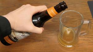 Pouring, beer, non-autistic, non-antisemitic