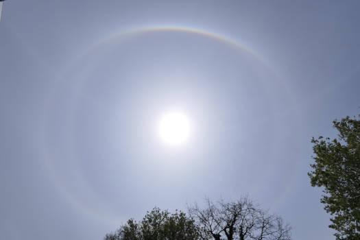 Complex sun halo