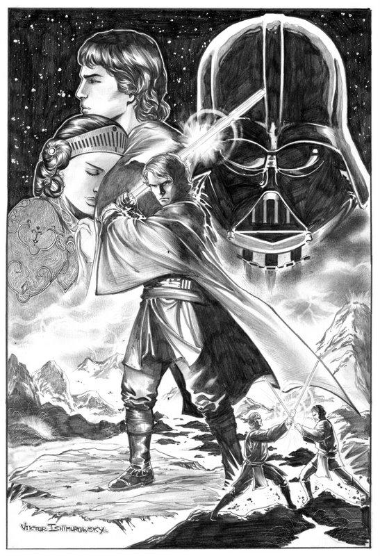 dessins et affiches star wars - Page 16 Commission_Star_Wars_by_vtishimura
