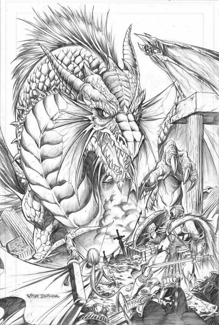 Fantasy_Dragon_pencil_version_by_vtishim