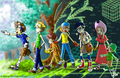 Collab: Digimon Adventure by Avielsusej