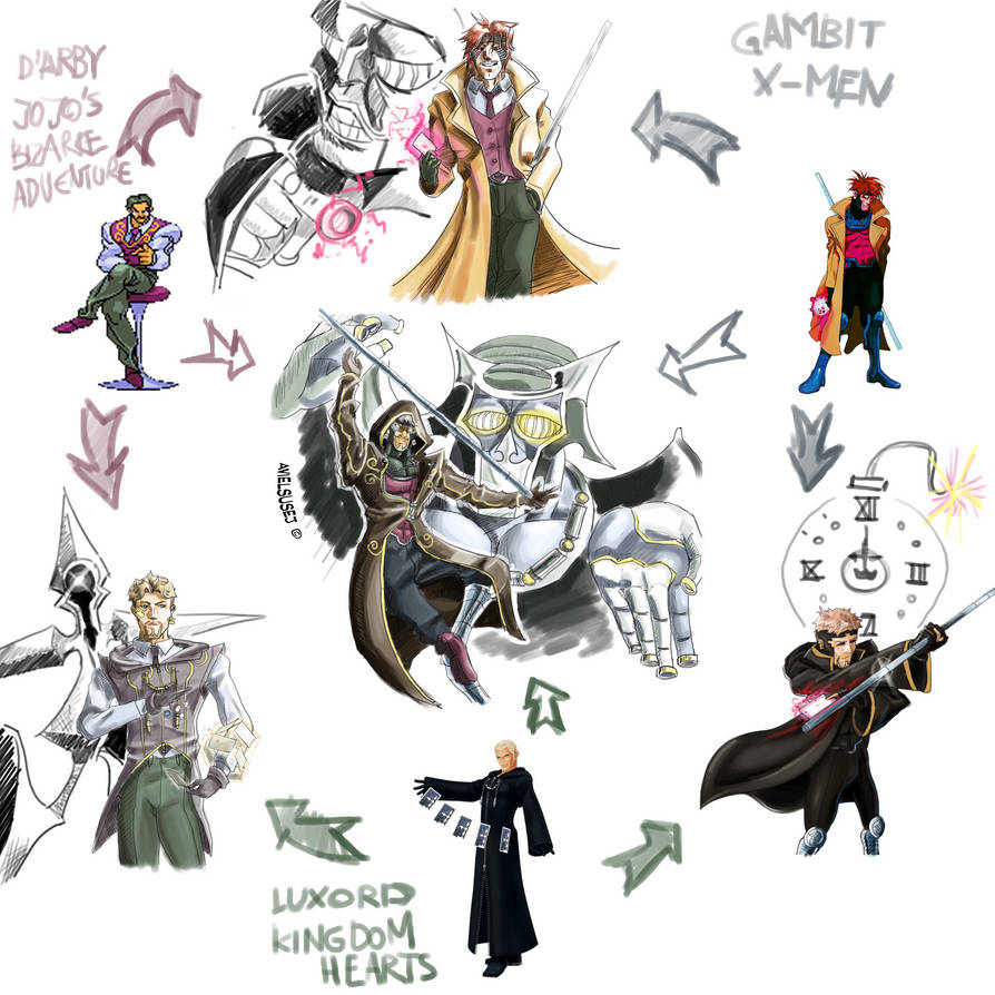 Fusion Meme - D'arby, Luxord, Gambit by Avielsusej on DeviantArt