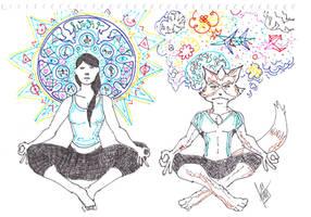 Super Yoga Bros by Avielsusej