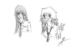 Shizuka and Akima by Baranotoge