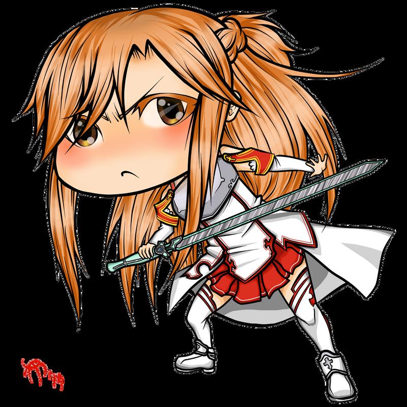 Chibi Asuna by CzarnaInez95