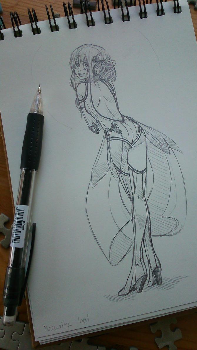 Yuzuriha Inori sketch by CzarnaInez95