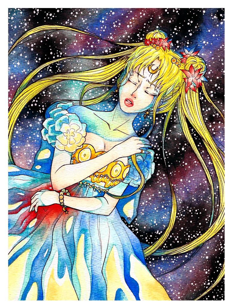 Princess Serenity's Death by CzarnaInez95