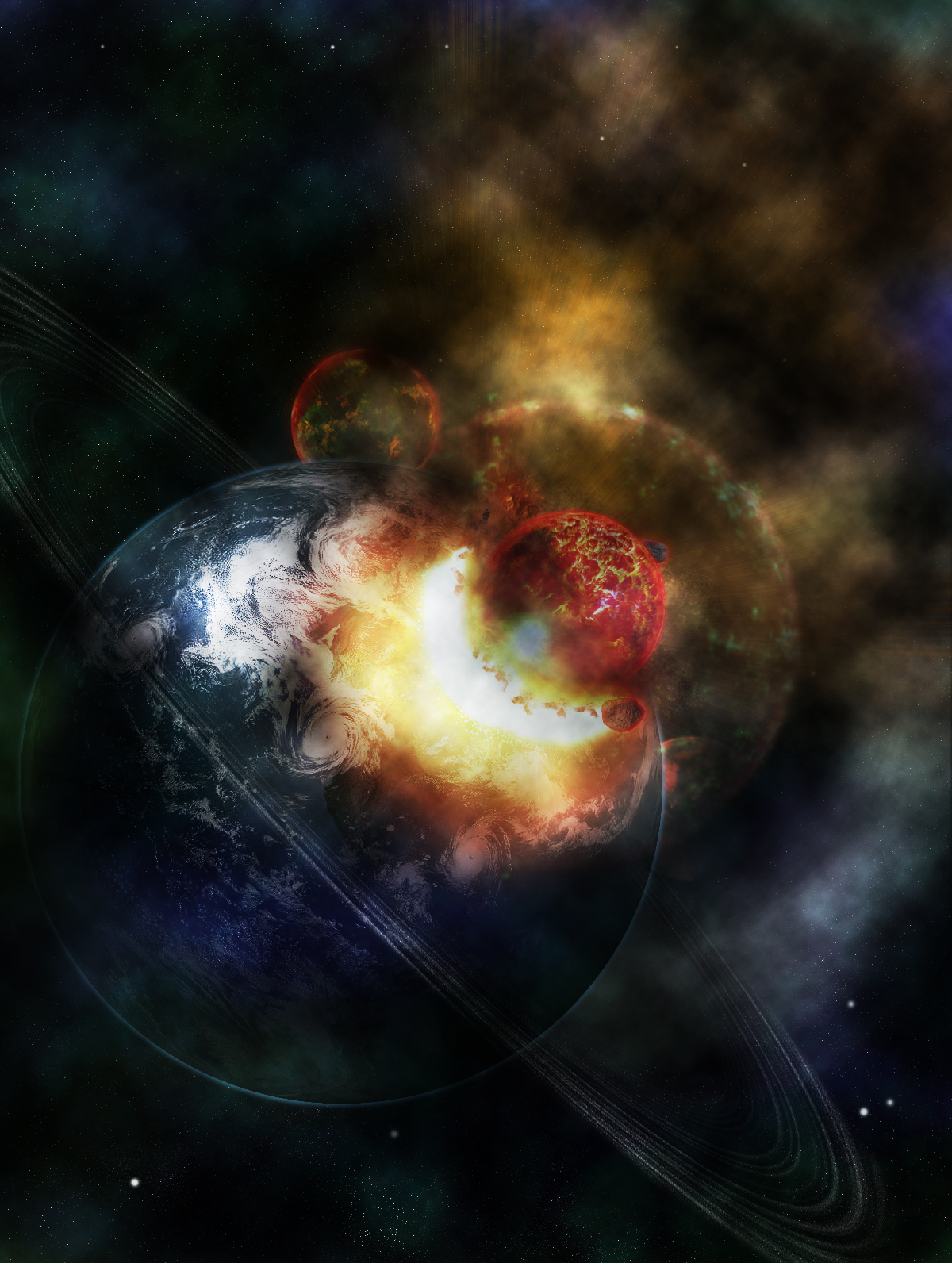 Exploding Planet v2 by connorz16 on deviantART