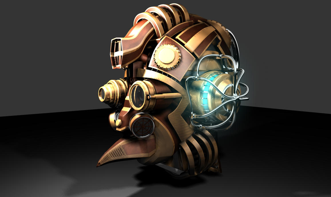 Steampunk Style Head by connorz16