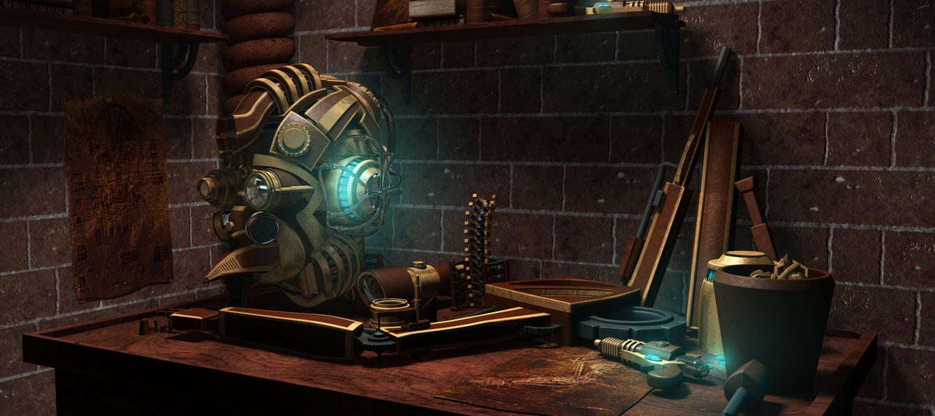 Steampunk Workbench by connorz16
