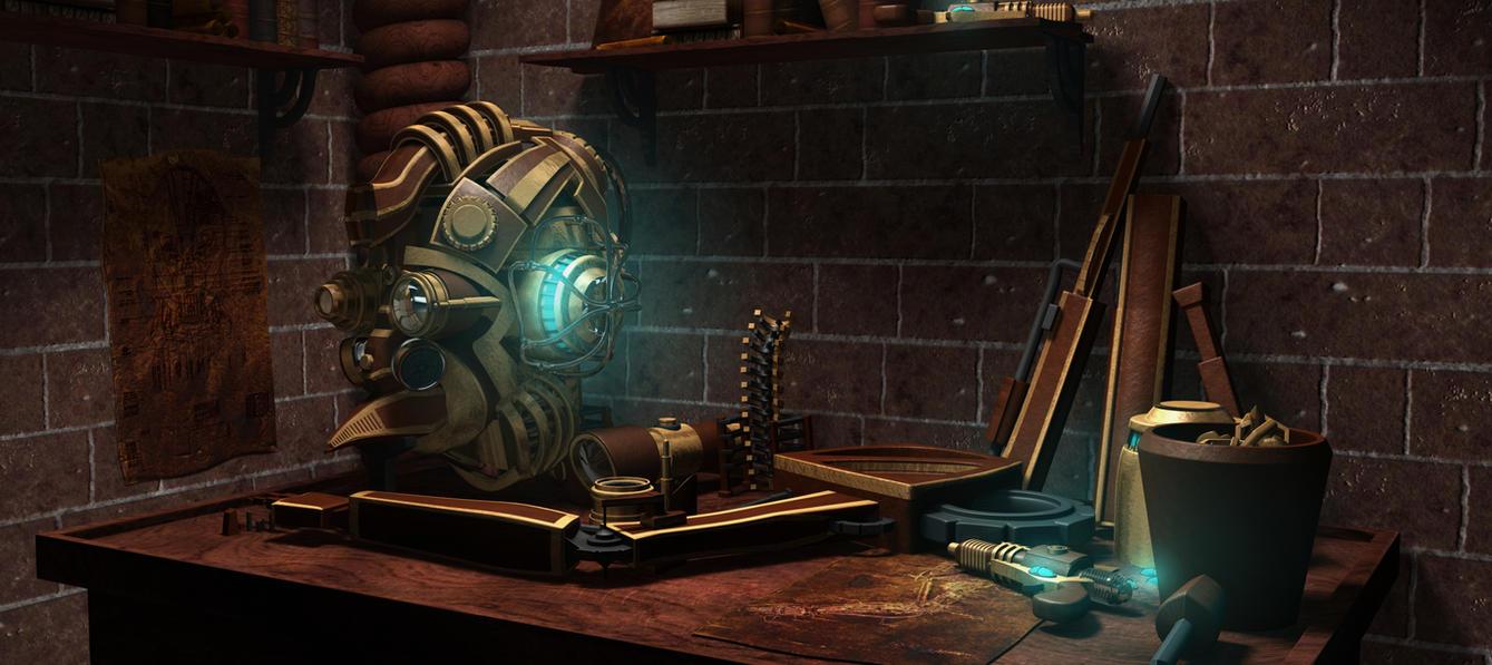 Steampunk Workbench by connorz16