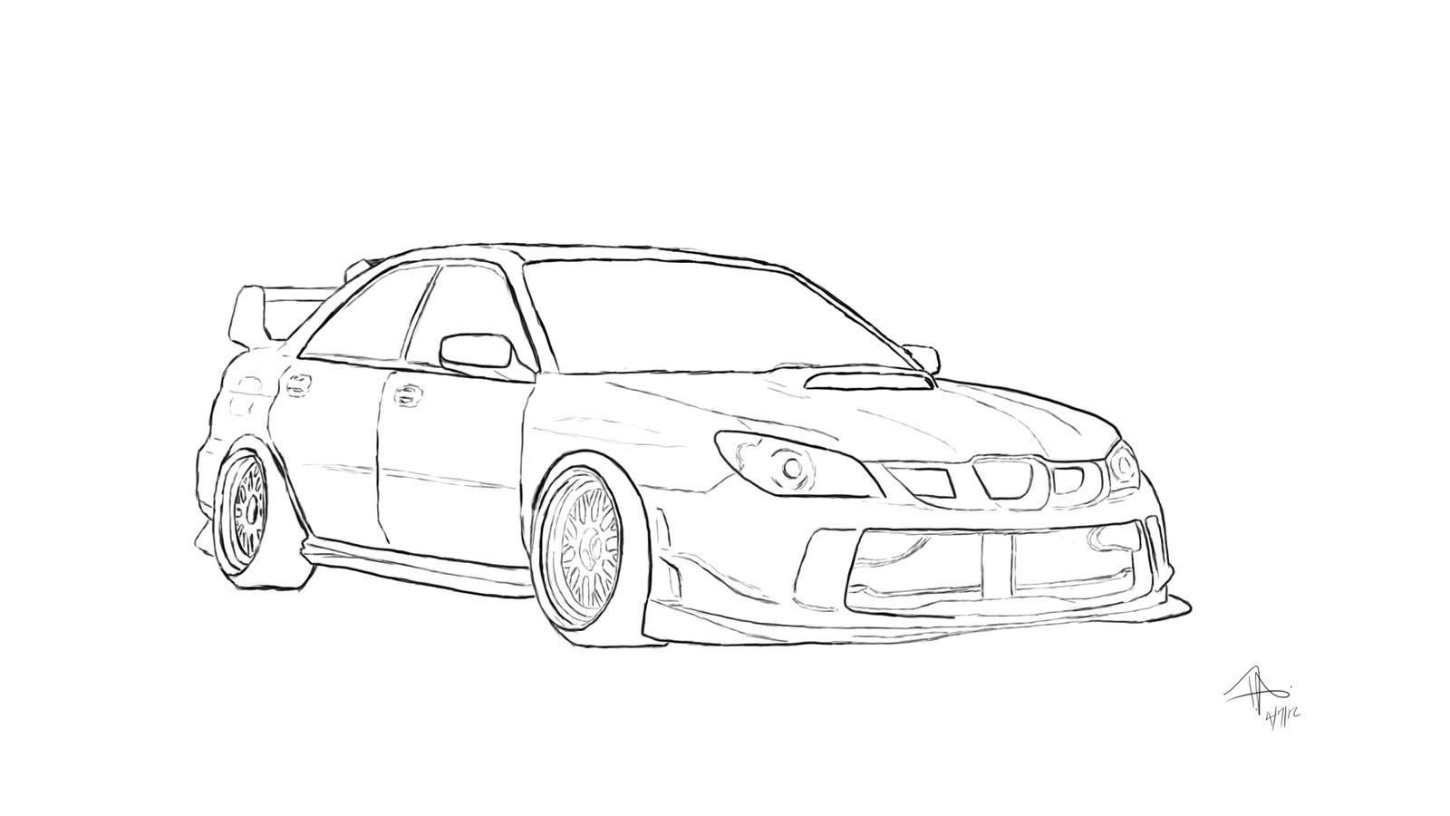 Subaru Sketch by DESneaky on DeviantArt