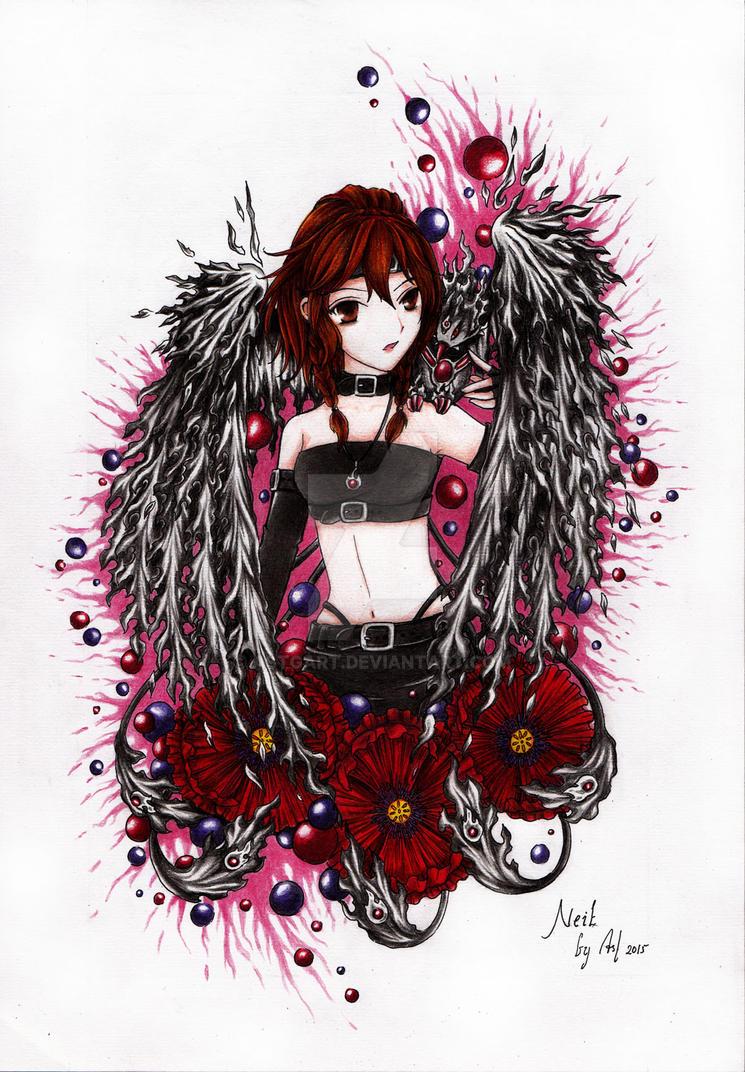 Commission Black Phoenix Necromancer By Astgart On Deviantart