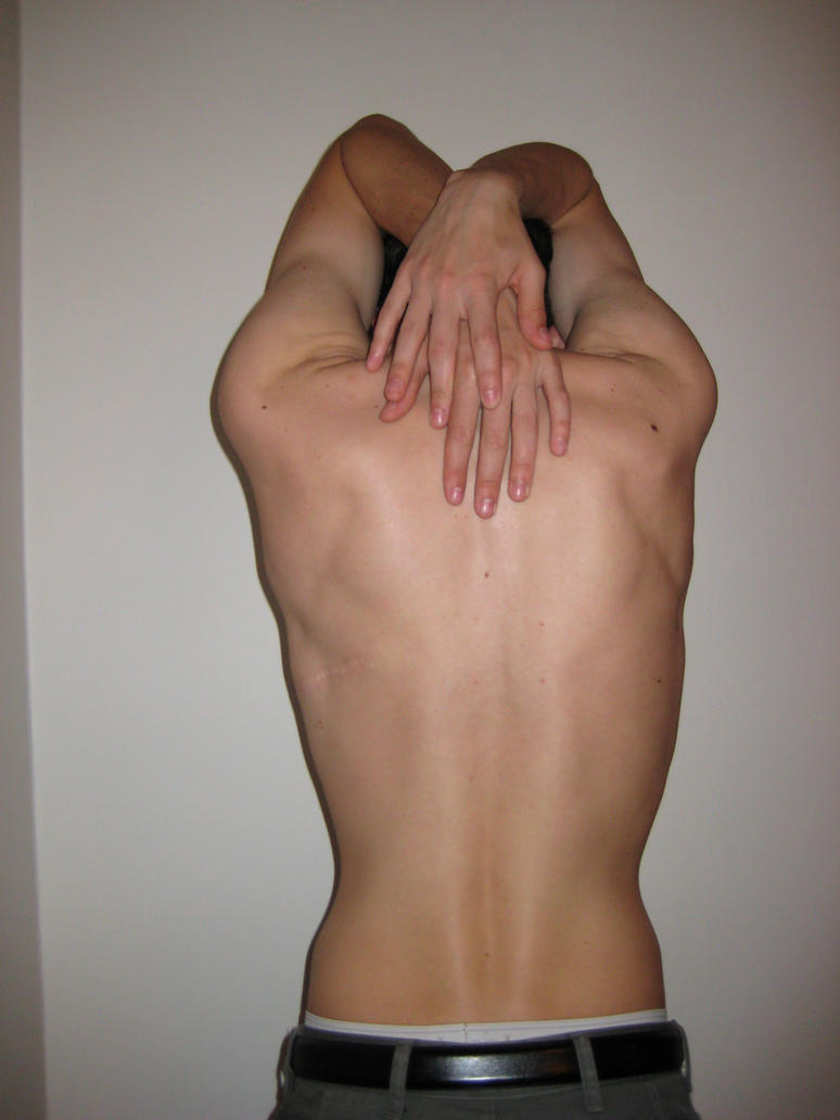 Stock - Male Back V by mousiestock