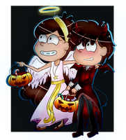 Trick or Twins! by Applemaple19